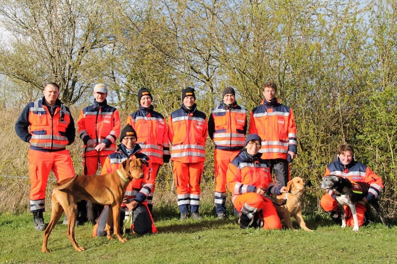 ASB Rettungshundestaffel Gruppenfoto