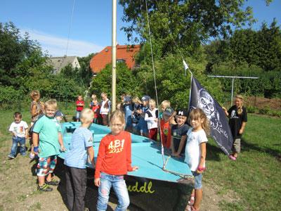 Kinder am Kuddl Boot